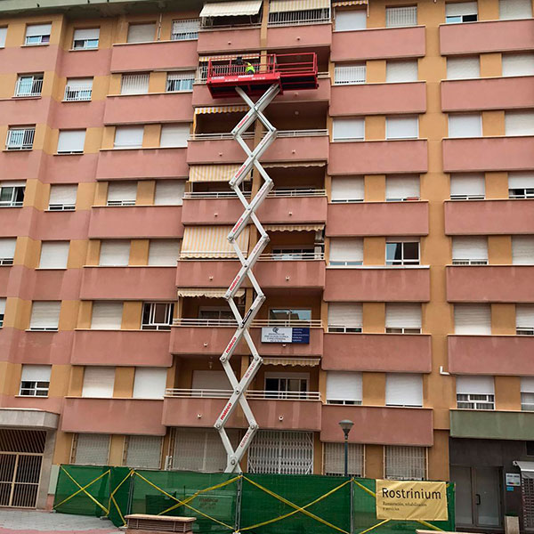 reformas en fachadas para edificios en comunidades de propietarios.